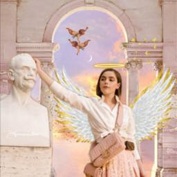 kiernanshipkaedit angel edit renaissance freetoedit