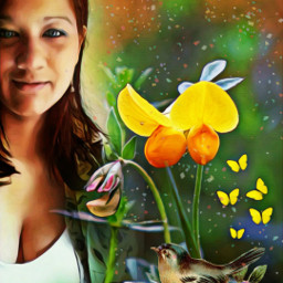 picsart fantasy multicolor creative flowers interesting girl woman beautifuledit amazing myedit remixit remixed freetoedit