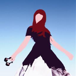 girl mountain challenge pose ircfashionpose fashionpose freetoedit