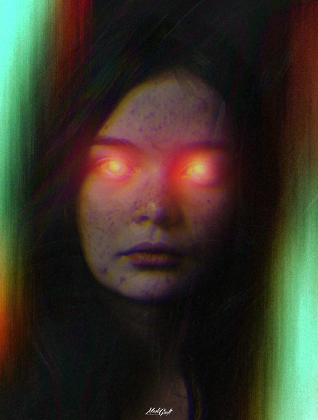 #myedit #picsart #madewithpicsart #pa #woman #glare #surreal #creepy #glitch