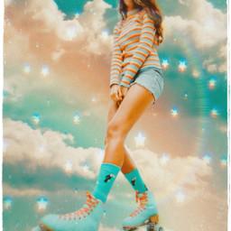 freetoedit rollerskates cloudysky summervibes stars