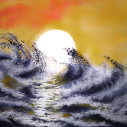 sea sun painting oilpainting oilpastel fcexpressyourself expressyourself