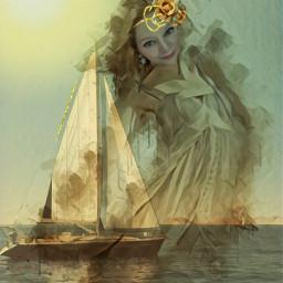 sun sea sailboat creating artisticselfie
