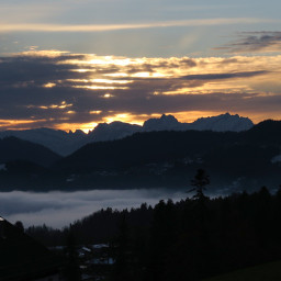freetoedit sunset mountains mountain clouds