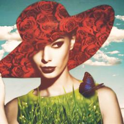 freetoedit unsplash summertime spring roses grass womanportrait style