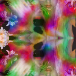 kaleidoscope ageofaquarius floral trippy 60s 70s freetoedit