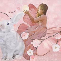 pastel pink fantasy spring freetoedit