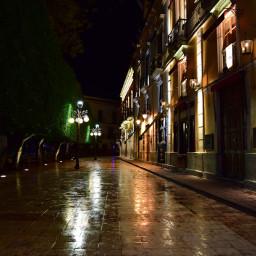 lluvia noche calle street rain night guanajuatomexico guanajuatocity
