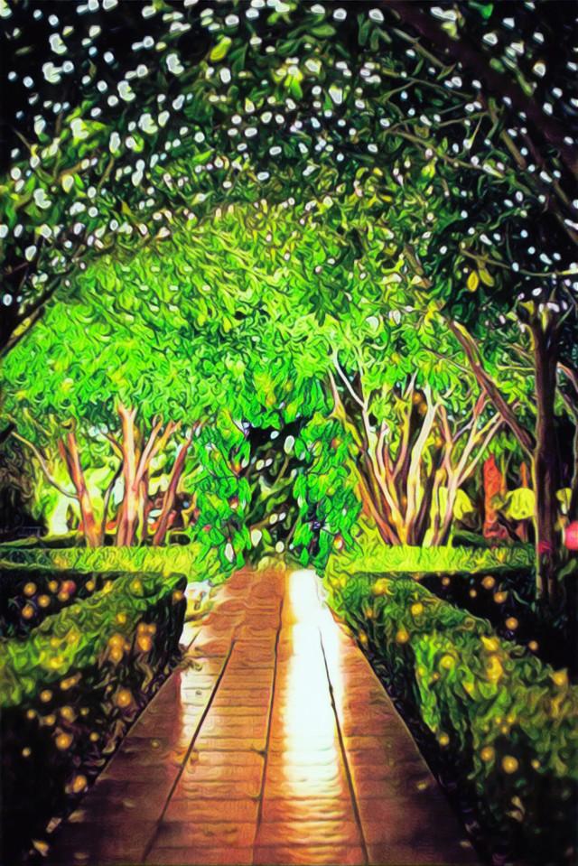#background #nightgarden #fairylights #wedding #freetoedit