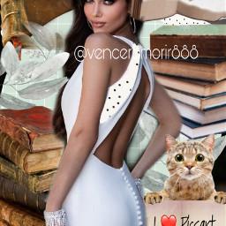 girl books cat lovepicsartfriends rcmintgreenaesthetic freetoedit
