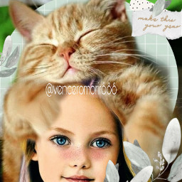 girl cat love beautiful rcmintgreenaesthetic freetoedit