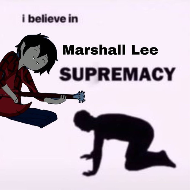 My friend told me i look like Marshall Lee and i have decided to pass away for i have reached my goal in life #yes