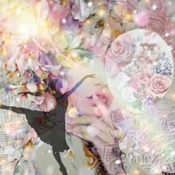 face girl balloon ballerina flowers leaves mandala colors colours roses light rainbow madebyme madewithpicsart loveit ircawhiteballoon awhiteballoon freetoedit