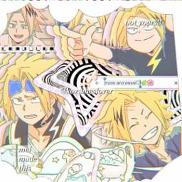 denki kaminari denkikamimari mha bnha myheroacademia bokunoheroacademia interesting complexedit complex edit anime freetoedit