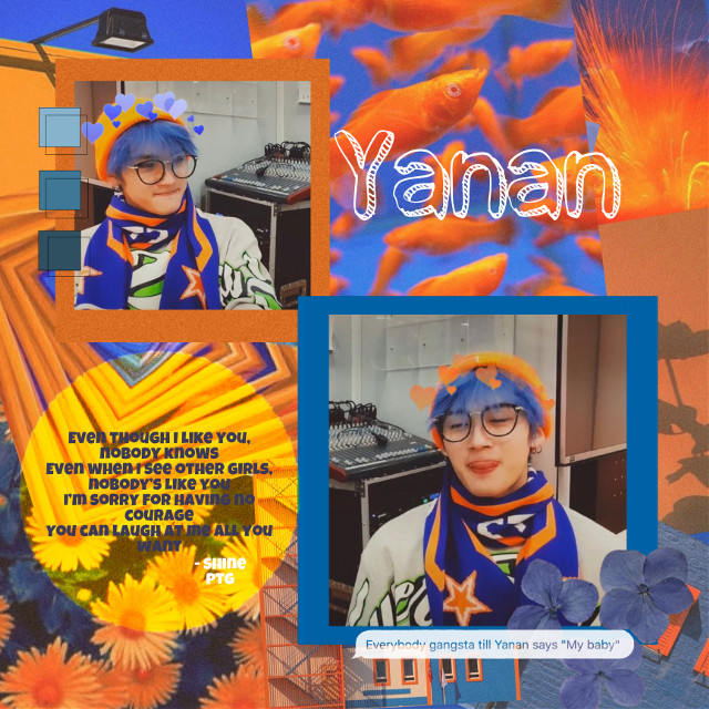 💙🧡open me!!🧡💙  i got an instagram  _sunsets_at_midnight  check it out if you want lolol  idol: Yanan  group: pentagon  song be them i recommend: all of them    ⭐️ evening stars ⭐️  @_-nct-_      @wonderlemon      @my_aespa_      @shawthyyy      @kpop_multifan_1      @shillpuppy      @_-birbsrcool      @_hyunjinsamericano     @_chanslaptop      @kpopmultifan_87   to join comment: 🤍 to leave comment: 🖤  tags:  #ptg #pentagon #yanan #yananedit #yananpentagon #pentagonyanan #universe #pentagonuniverse #doornot #shine #daisy #kpopidol #kpopgroup #kpopedit #mybaby    comments: my baby !!