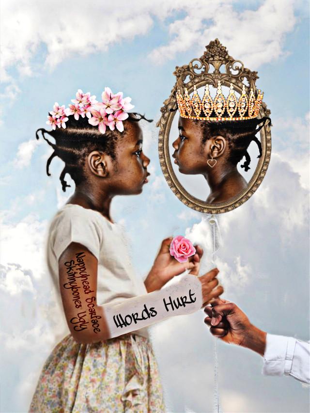 #awhiteballoonimageremixchallenge #queensandkings #blackisbeautiful #selfesteem #beyourself #loveyourself #wordscanhurt #antibullying #littlegirls #thisisforthekids ✨👑🌸🌹🎈✨