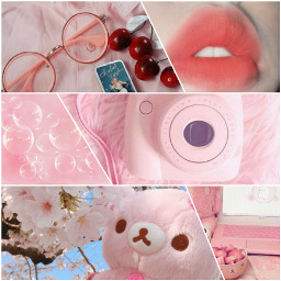 aesthetic pink pastel collage soft cute freetoedit