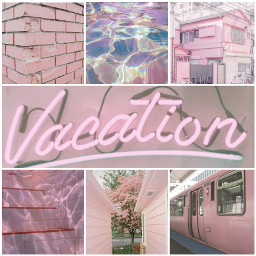 aesthetic pink pastel vibes aestheticcollage soft travel buildings water freetoedit
