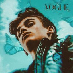 vogue vougemagazine jonnyorlando singer blue blueaesthetic bluebackground blueedit butterfly butterflies bluebutterflies bluebutterfly shine wallpaper coat orlando johnny freetoedit