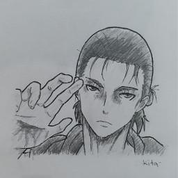 eren yeager erenyeager yeagereren jeager erenjeager jeagereren aot attackontitan snk shingekinokyojin anime animeboy animedraw animedrawing animeart