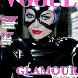 catwoman batmanreturns michellepfeiffer vogue magazine freetoedit