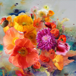 digitalart picsart flower popart modernart artisticexpression fantasy abstractart colorful mydesign remixed free freetoedit