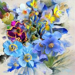 flower picsart abstractart fantasyart mydesign colorful remixed freetoedit