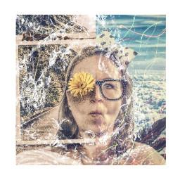 kolaż collage collageartist collageartwork kobieta portret woman portrait freetoedit rcbubblewrap bubblewrap