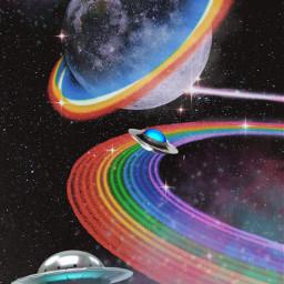 iloveuallsooooooooooomuch spaceship space spaceconqueror spaceremix rainbowspace alieninvasion aliens rainbow galaxy galaxyeffect loveit crazy followforfollowback plsfollowformore freetoedit