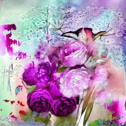 digitalart flower fantasy abstractart mydesign colorful remixed freetoedit