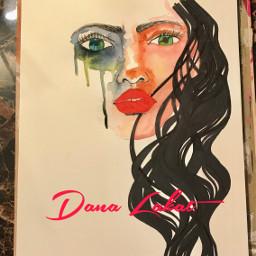 art wip drawing painting watercolor watercolorpainting portrait artist danalakat
