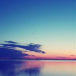 sunset sea pace silence mypic freetoedit