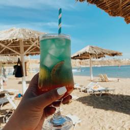 freetoedit sand sunlight sun goldenhour cocktail aesthetic drinks beachday beach