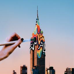 srccolorfulgrime colorfulgrime madewithpicsart empirestatebuilding nyc