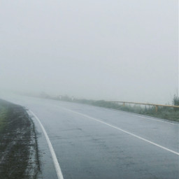 fog rain road somewhere in freetoedit