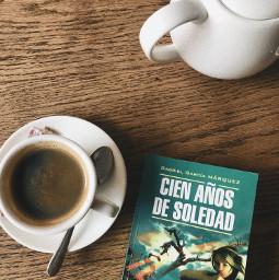 freetoedit cienanosdesoledad book coffee pcmyfavoritedrink myfavoritedrink