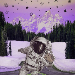 replay myedit myoriginaledit aesthetic interesting stickers stickerremix remix picsart freetoedit astronaut glaxy celestial hue colorize