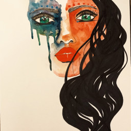 wip art drawing painting watercolorpainting portrait artist danalakat