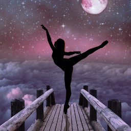 dance dancinginthemoonlight edit freetoedit ircballerinesilhouette ballerinesilhouette
