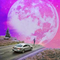 moon skylovers cosmos galaxy universe skypurple myart artwork freetoedit