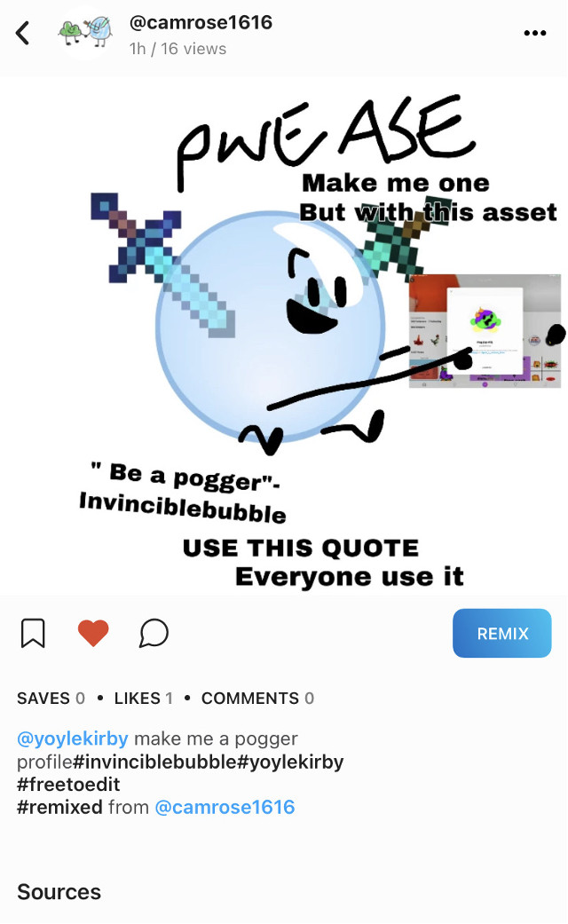@camrose1616 i didnt make it @grangriss randomly made it as a sticker so i used their sticker. So uh go commit asking them to make one     #itsalsobecauseimtoolazy