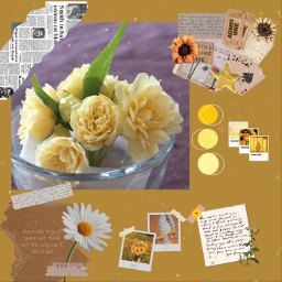 aesthetic aestheticyellow flower collage freetoedit
