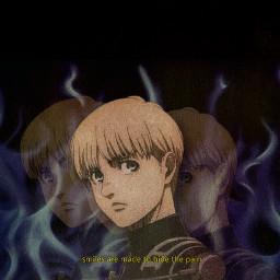 freetoedit edit anime armin arminarlert aot attackontitan