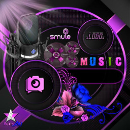 freetoedit eemput wallpaper background frame frames png template transparent gold cover coverphoto purple coversmule smule music voice microphone speaker bass
