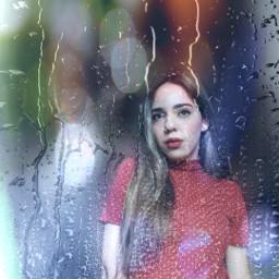 portrait rain edited people