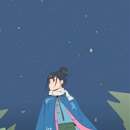 freetoedit drawing girl ゆるキャン yurucamp