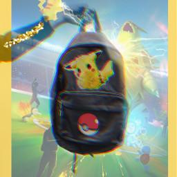picachu picapicachoochoo pokemon bagdesign remix freetoedit ircdesignthebackpack designthebackpack