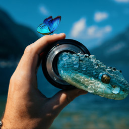 snake butterfly freetoedit ircthroughyourprism throughyourprism