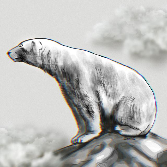 #freeforbusiness #polarbear #white_bear #artic_animal #animal #artic #snowbear #myart #ursusmaritimusmaritimus #drawing #sketch #illustration #digitalart #freetoedit