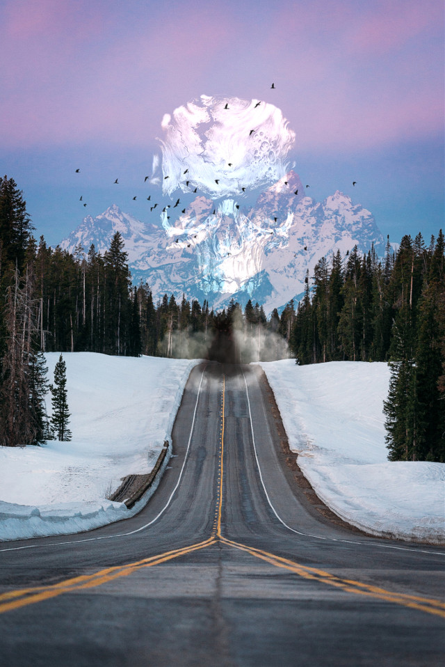 Highway to hell  #freetoedit #replay #horror #horrorat #ghost #picsart #fotoedit #skull #road #highway #freeway #halloween #creepy #scary #fantasy @freetoedit